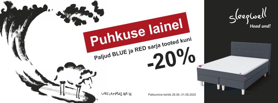 Paljud BLUE ja RED sarja tooted kuni -20%